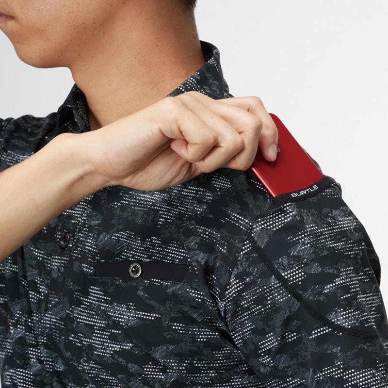 袖マルチポケット(左)、(意匠登録)