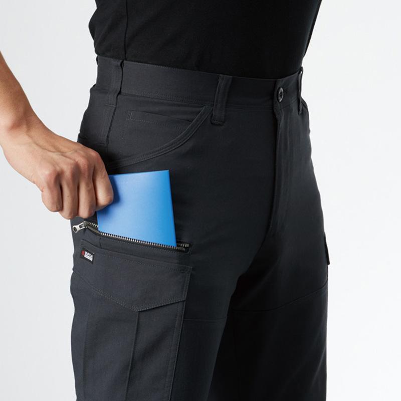 長財布・レベルブック、収納ポケット(右:深さ23cm)