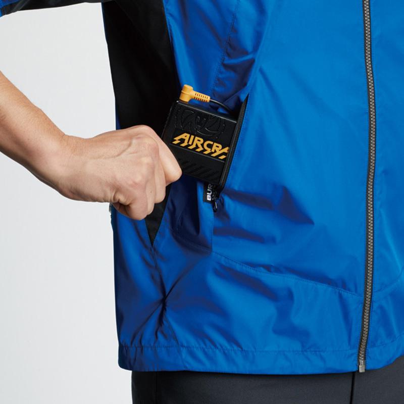 バッテリー収納ポケット(右:ファスナー止め) ※特許取得済